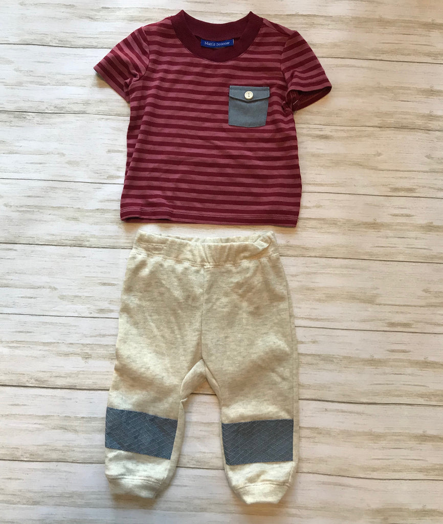 Matt's Scooter 2 Piece Striped Jogger Set