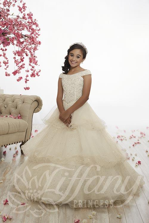 Tiffany 13517 Girls Pageant Gown