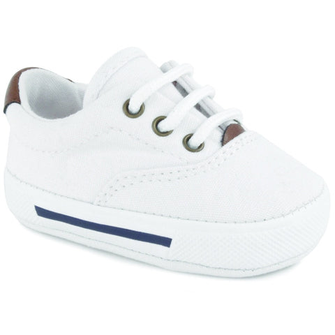 Baby Deer White infant tennis shoe