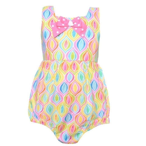 Bonnie baby Multicolor onesie with ruffles