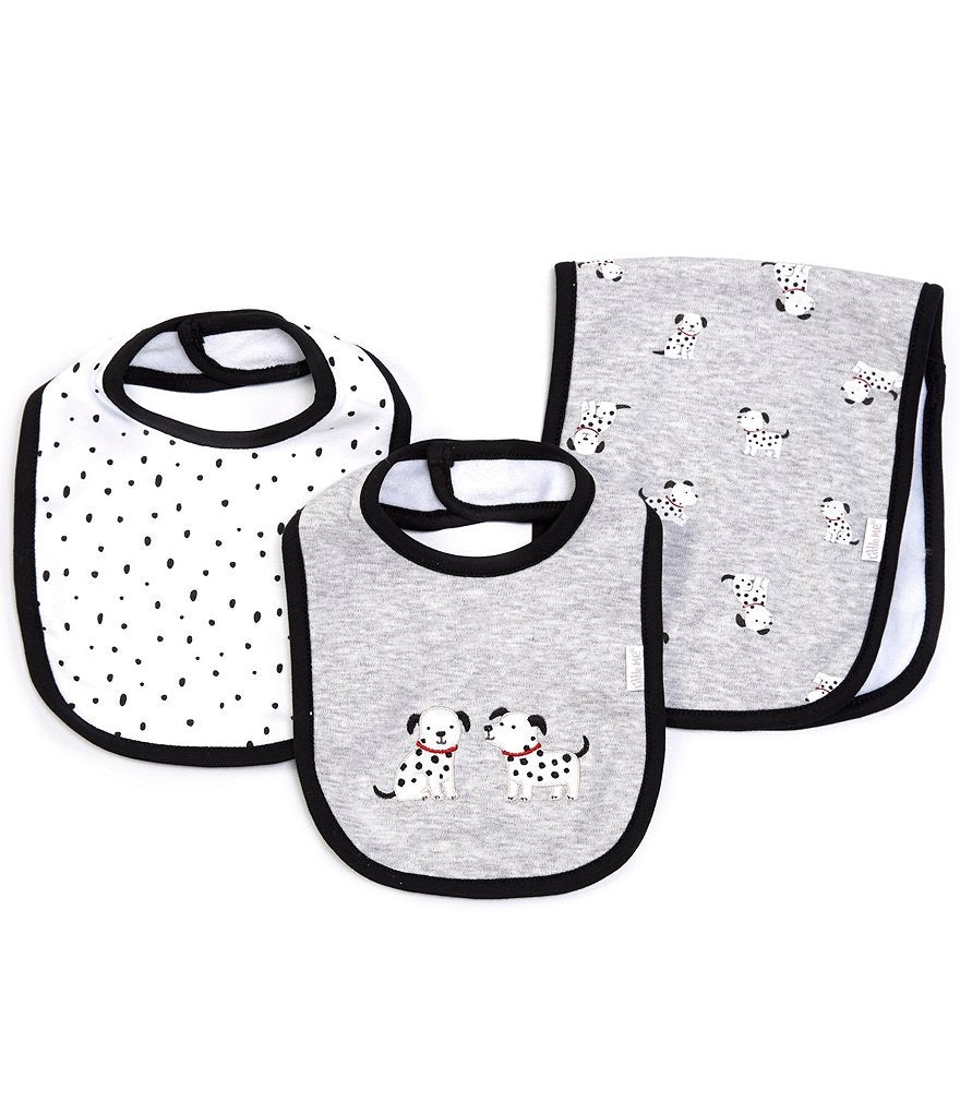 Little Me Dalmatian Bib set