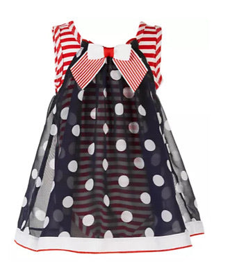 Bonnie baby red white and blue polkadot