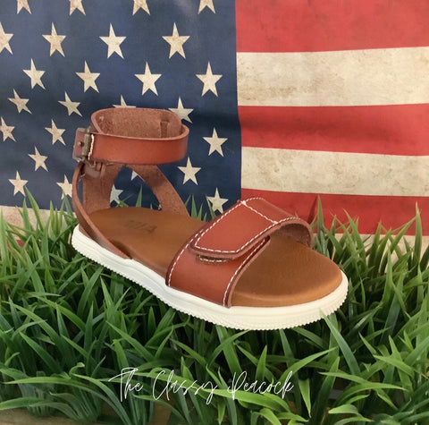 Mini Mia Brown Side buckle Sandal
