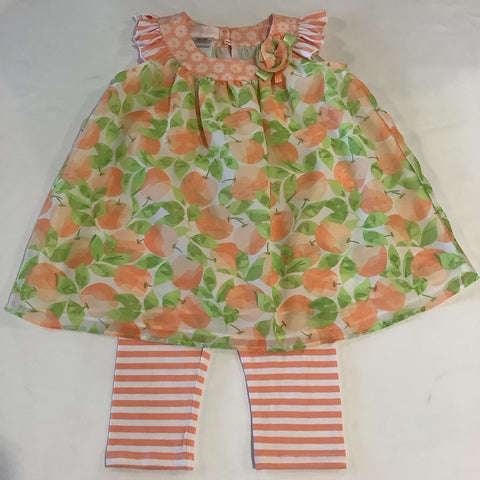 Bonnie Baby Peach Dress w/ Leggings