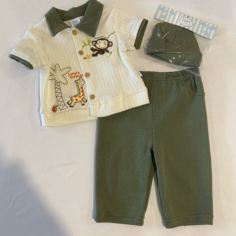 Petite ~ 3 PC set with Monkey