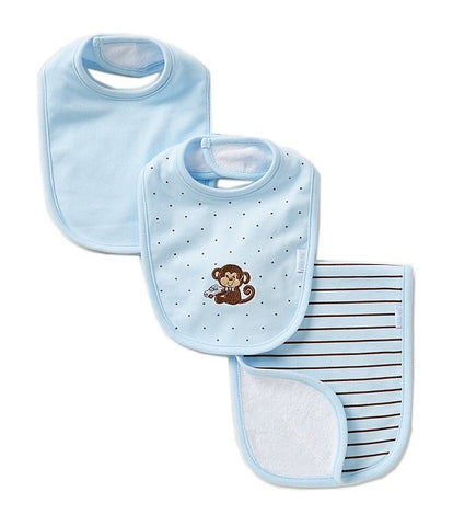 Little Me Bib Set Monkey