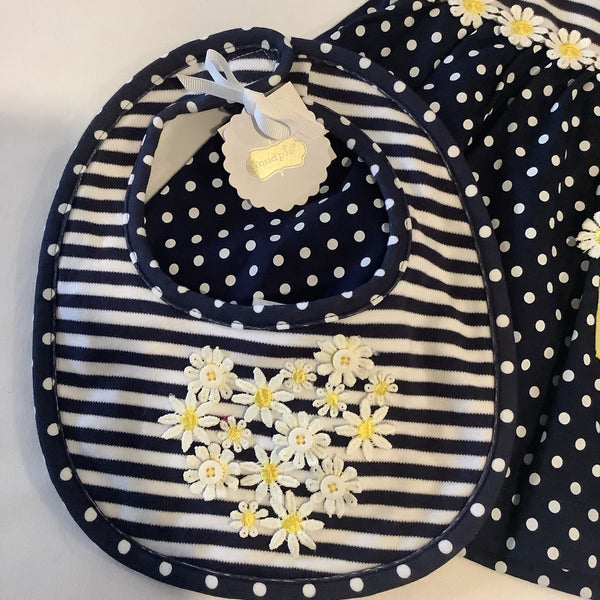 Mud Pie Daisy Bib