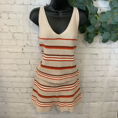 Crochet Striped Tank and/or Short