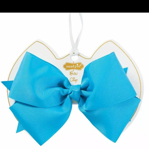 Turquoise Bow Clip Mud Pie
