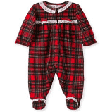 Little Me Plaid PJ Onesie