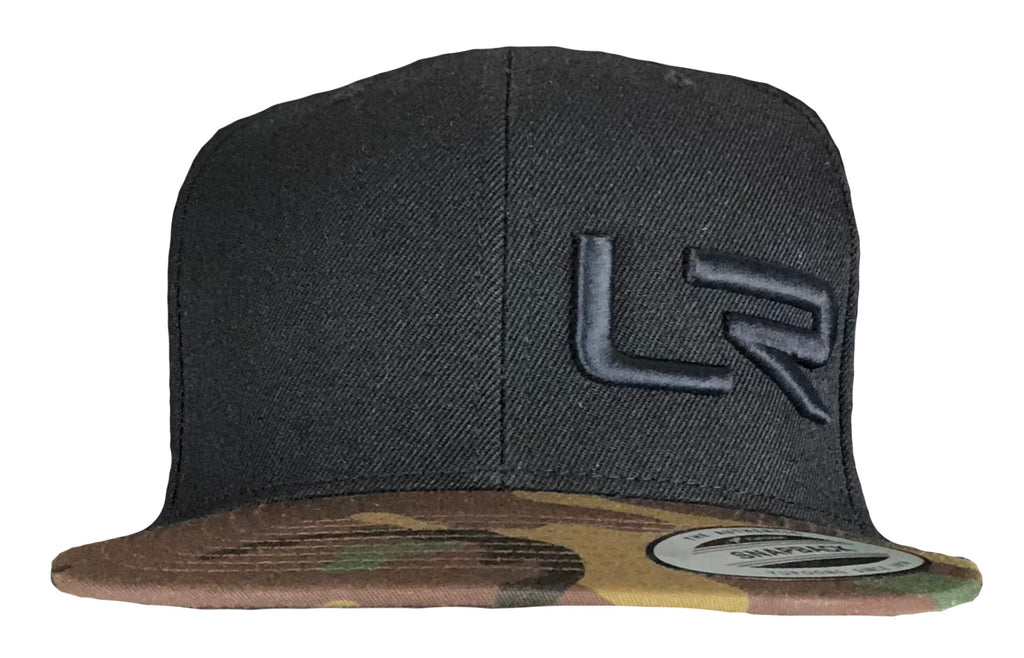 Black and Camo LR Flat Bill Hat