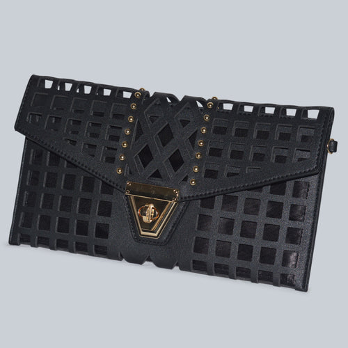Laser Cut Mini Clutch Handbag
