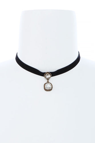 Framed Faux Jewel Choker