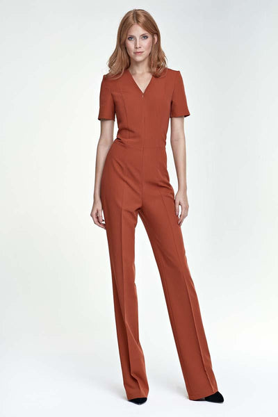 Burnt Orange Elegant Jumpsuit
