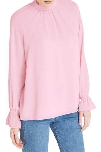Long Sleeve Chiffon Blouse Top