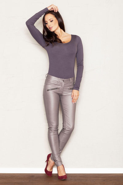 Pewter Liquid Dress Pant Leggings
