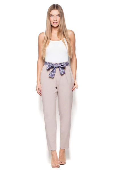 Batik Belted Tapered Leg Pants