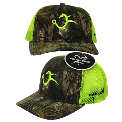 Realtree Camo Neon Green Trucker Hat
