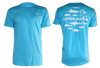 Light blue short sleeve HOOKBONE shirt with the Original 12 design on the back