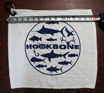 HOOKBONE Fishing Rag with Stainless Steel Grommet & Hookbone Carabiner
