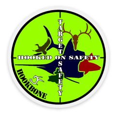 Hooked On Safety - Hard Hat Decal