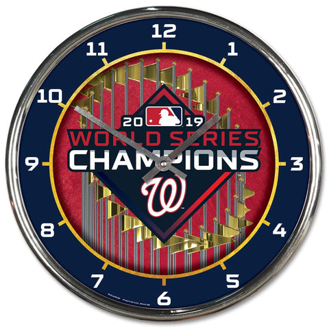 Washington Nationals 2019 World Series Champions Chrome Clock - Fan Shop TODAY