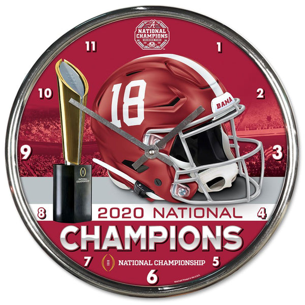 Alabama Crimson Tide 2020 National Champions Chrome Wall Clock - Fan Shop TODAY