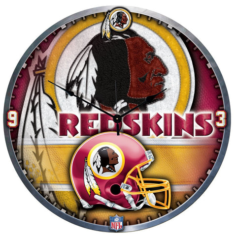 "Redskins NFL Plaque HD Clock 18"" - Fan Shop TODAY"