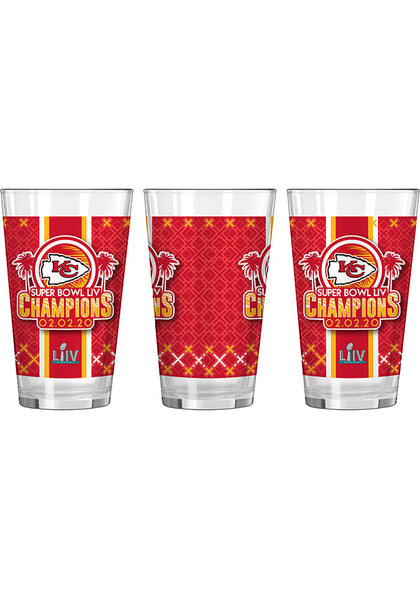 Kansas City Chiefs Super Bowl LIV Champions 16oz Pint Glass - Fan Shop TODAY