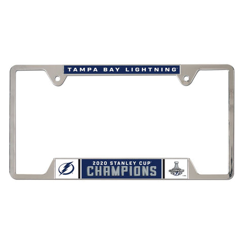 Tampa Bay Lightning 2020 Stanley Cup Champions License Plate Frame - Fan Shop TODAY