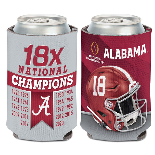 Alabama Crimson Tide 18X National Champions 12oz. Can Cooler - Fan Shop TODAY