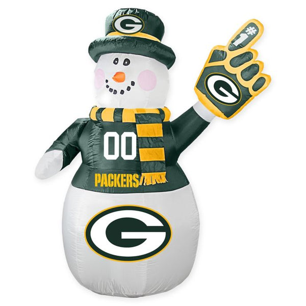 Green Bay Packers NFL Inflatable Snowman 7' - Fan Shop TODAY
