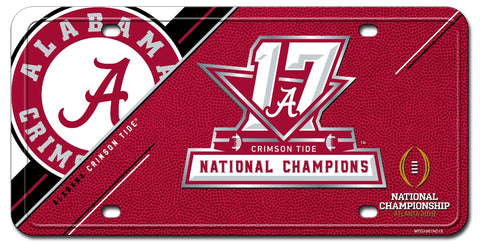 Alabama Crimson Tide College Football 2017 National Champions Metal Auto Tag - Fan Shop TODAY