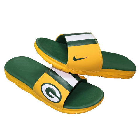 Packers NFL Nike Men's Benassi Solarsoft Team Slides - Fan Shop TODAY