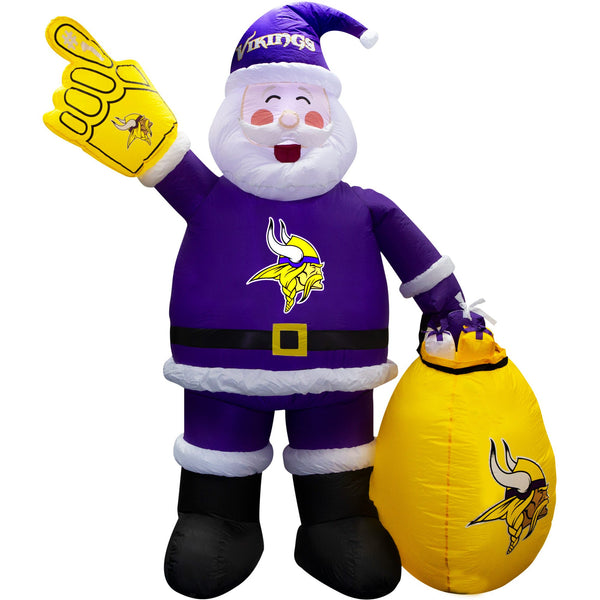 Minnesota Vikings 7' Inflatable Santa - Fan Shop TODAY