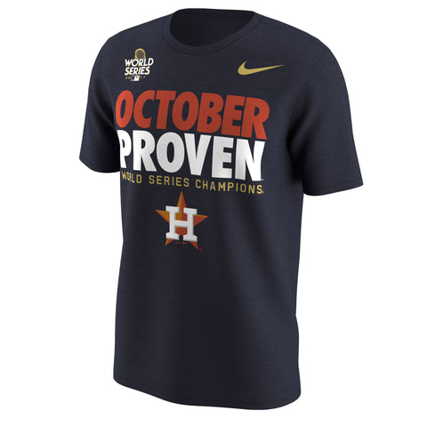 Houston Astros Nike 2017 MLB Men's World Series Champs Proven T-Shirt - Fan Shop TODAY