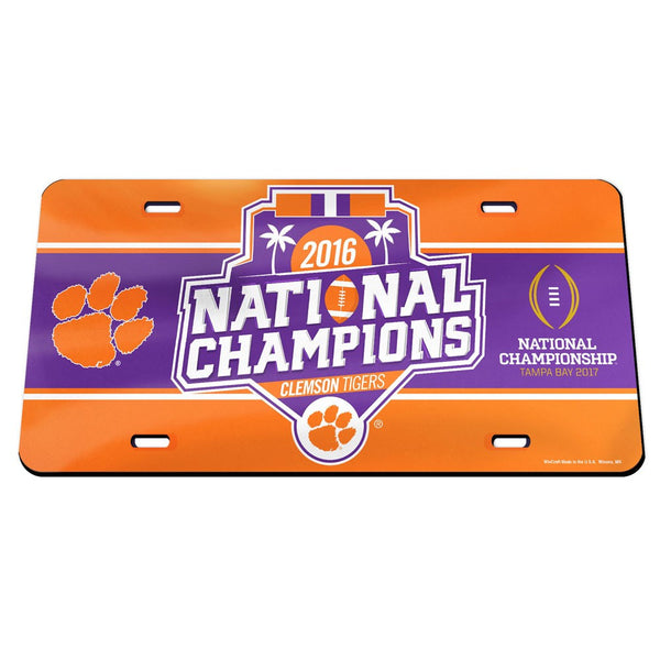 "Clemson Tigers NCAA ""National Champions"" Mirror License Plate - Fan Shop TODAY"