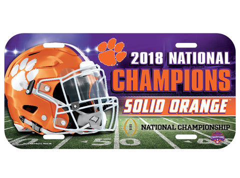 Clemson Tigers 2018 National Champions License Plate - Fan Shop TODAY