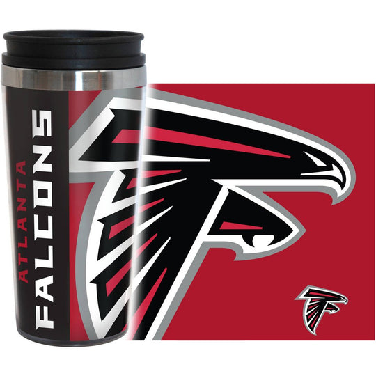 Falcons NFL 16 oz. Hype Travel Tumbler - Fan Shop TODAY