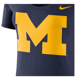 Wolverines NCAA Nike Women's Blue Logo Scoop Neck T-Shirt - Fan Shop TODAY