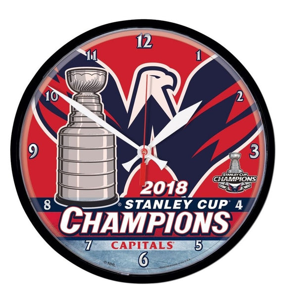 Washington Capitals 2018 Stanley Cup Champions Wall Clock - Fan Shop TODAY