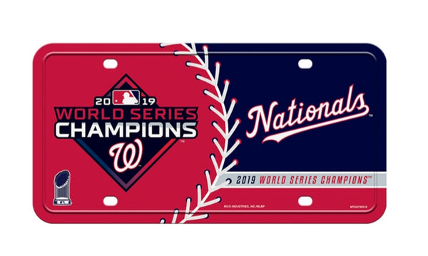 Washington Nationals World Series Champions License Plate - Fan Shop TODAY