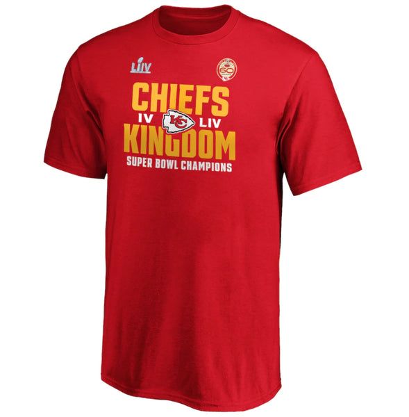 Kansas City Chiefs NFL 2-Time Super Bowl Champions Hashmark T-Shirt - Fan Shop TODAY