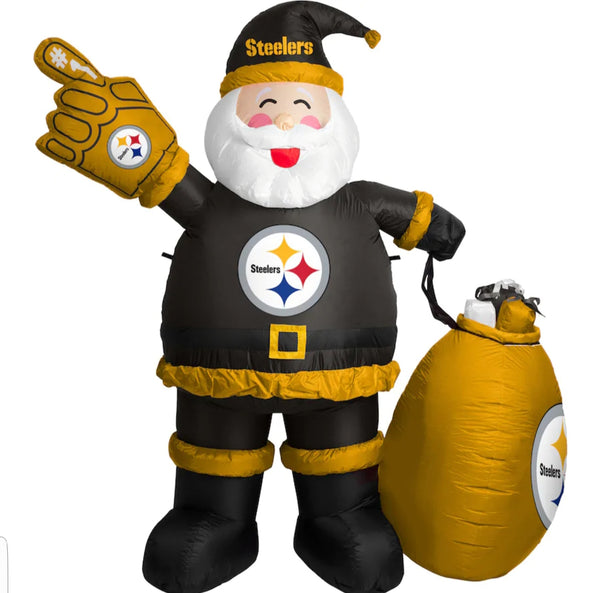Pittsburgh Steelers Inflatable Santa 7' - Fan Shop TODAY