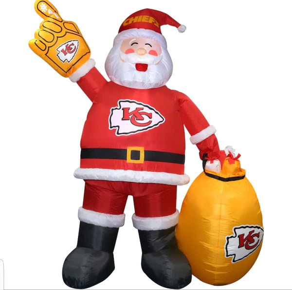 Kansas City Chiefs 7' Inflatable Santa - Fan Shop TODAY