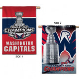 "Washington Capitals 2018 NHL Stanley CUP Champions 28"" x 40"" Vertical Banner Flag - Fan Shop TODAY"