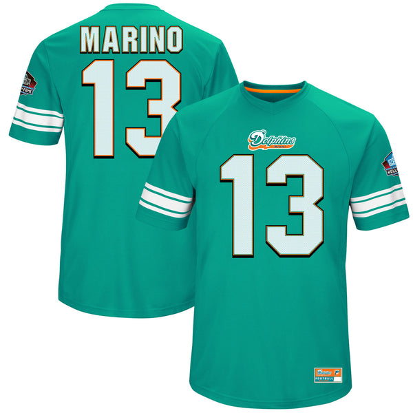 Miami Dolphins Dan Marino Hall of Fame Hash Mark Player Majestic T-Shirt - Fan Shop TODAY