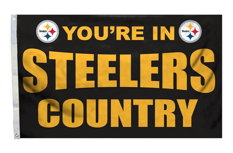 Pittsburgh Steelers NFL Flags Steelers Country & Man Cave 3'×5' - Fan Shop TODAY