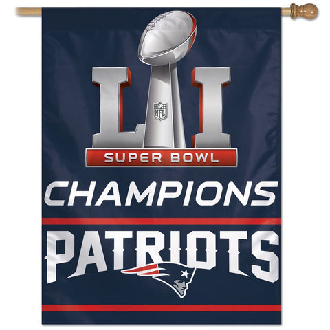 "Patriots NFL Super Bowl Champions Vertical Flag 27"" - Fan Shop TODAY"