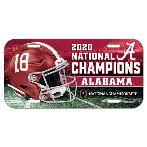 Alabama Crimson Tide 2020 National Champions Plastic License Plate - Fan Shop TODAY